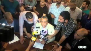 رصد | نقيب الصحفيين يرفض الإجابة على سؤال  يتعلق بمؤسسة الرئاسة أثناء إلقاء بيان النقابة