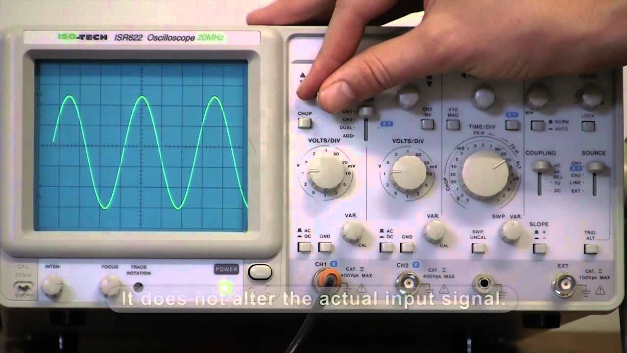 How to use an oscilloscope with an AC source  YouTube