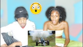 Can 50,000 Magnets Catch A Cannon Ball? | COUPLES REACTION