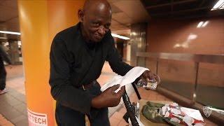 Officer Buys Socks For Homeless Man Rummaging Through Trash