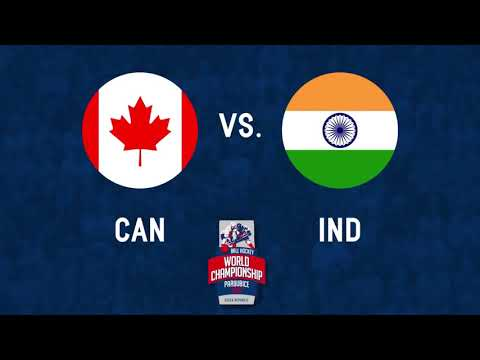 Canada vs India 2017 World Ball Hockey Championships in Pardubice, Czech Republic