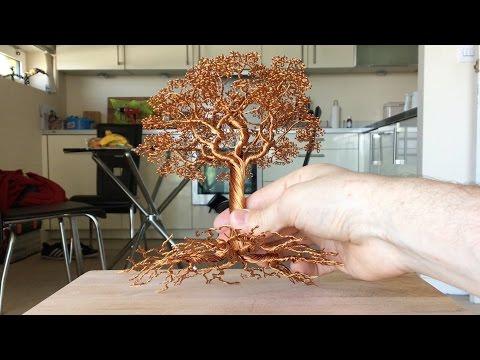 Making a Detailed Wire tree, Time Lapse