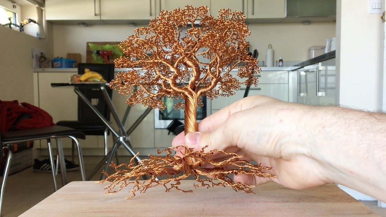 Making A Detailed Wire Tree Time Lapse Youtube