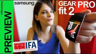 Samsung Gear Fit 2 Pro preview #IFA2017 -con natación y spotify-