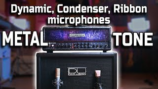 3 Mic Comparison for METAL Guitar cabinet (Dynamic, Condenser, Ribbon)
