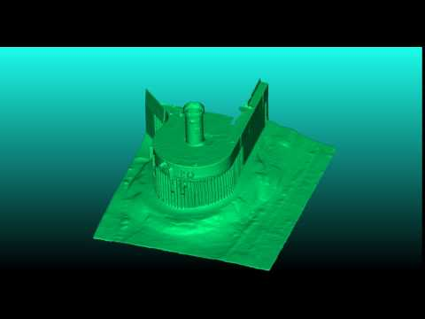 Hydromaster LiDAR and multibeam sonar mesh surface of Lighthouse