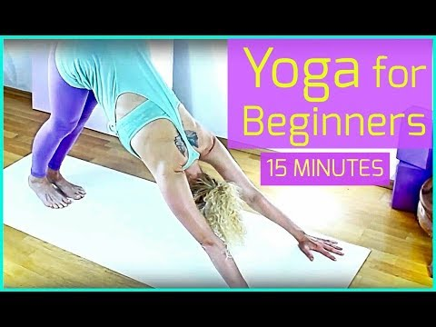 yoga for beginners  15 minute easy home yoga workout