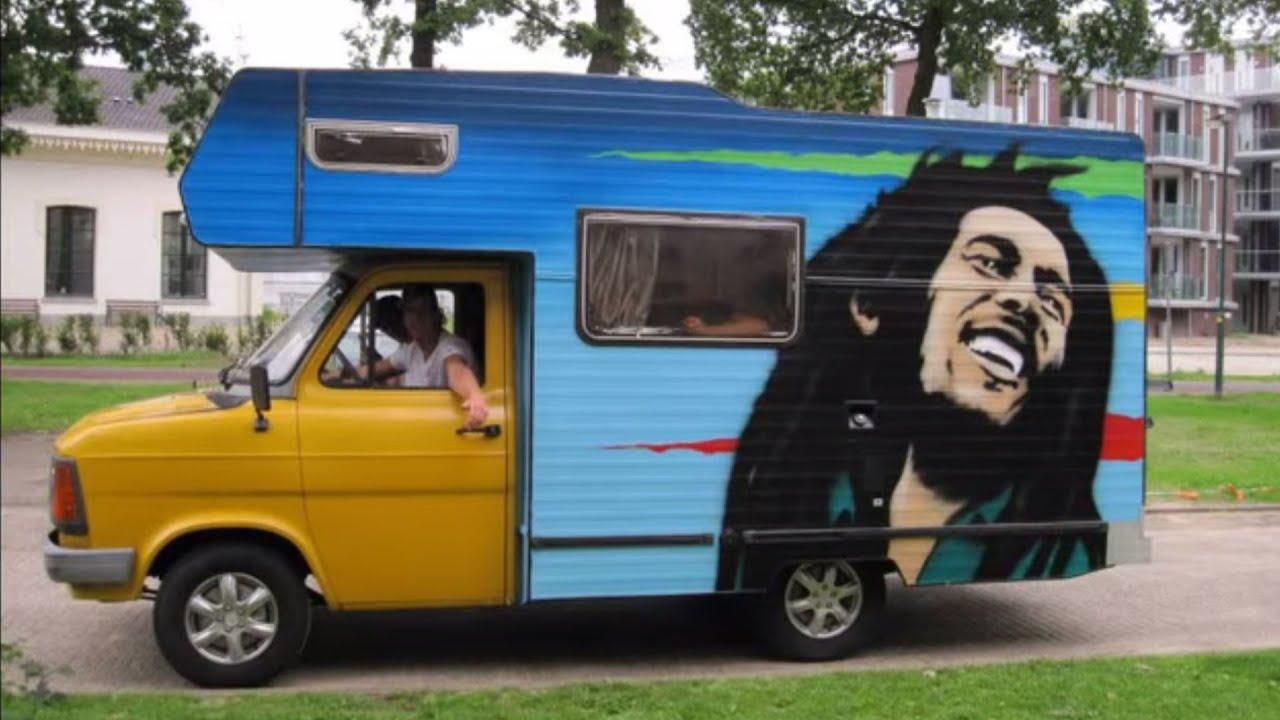 ford transit camper 1985 bob marley painting youtube. Black Bedroom Furniture Sets. Home Design Ideas