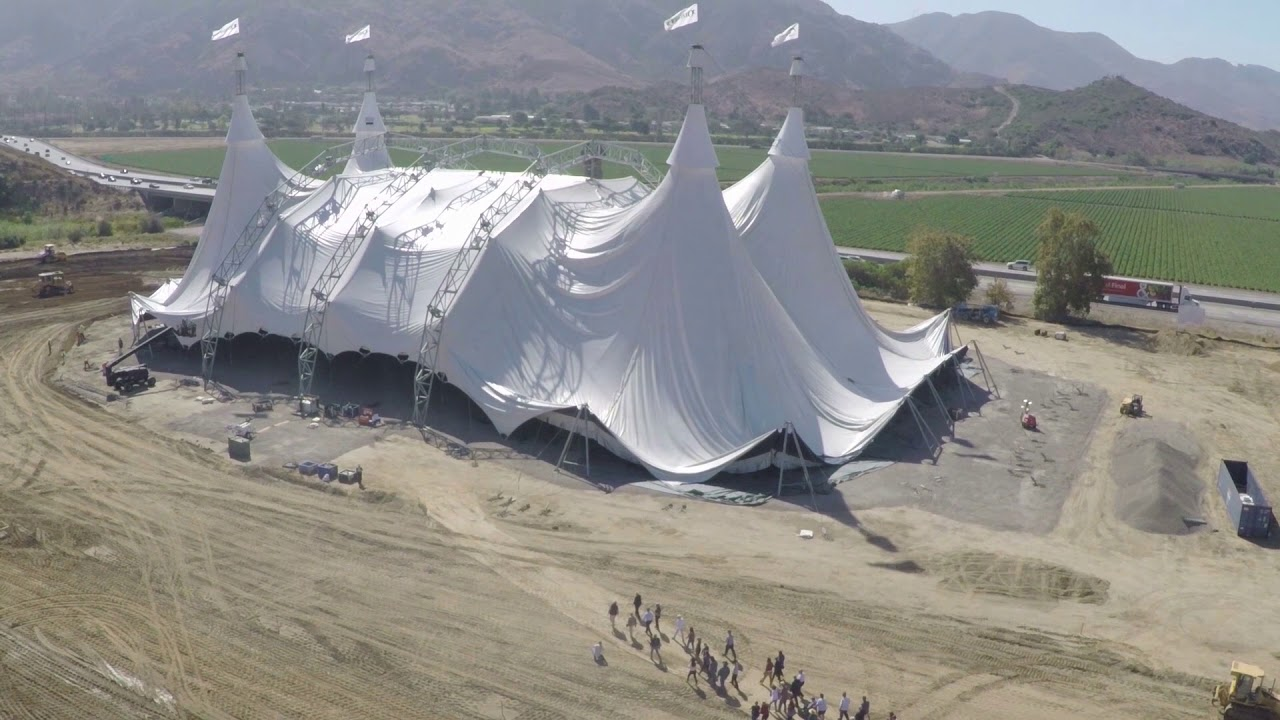 The White Big Top Raising in Camarillo, California