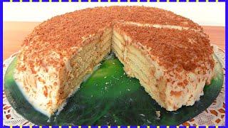 Торт без выпечки с творожным кремом