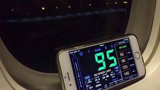 Boeing 777-200 takeoff speed recording