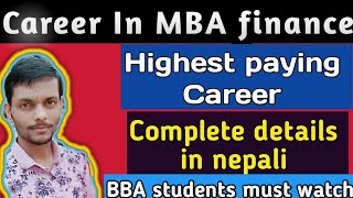 Gambar cover MBA in finance | Highest paying Careers | Complete details | Aashik Info
