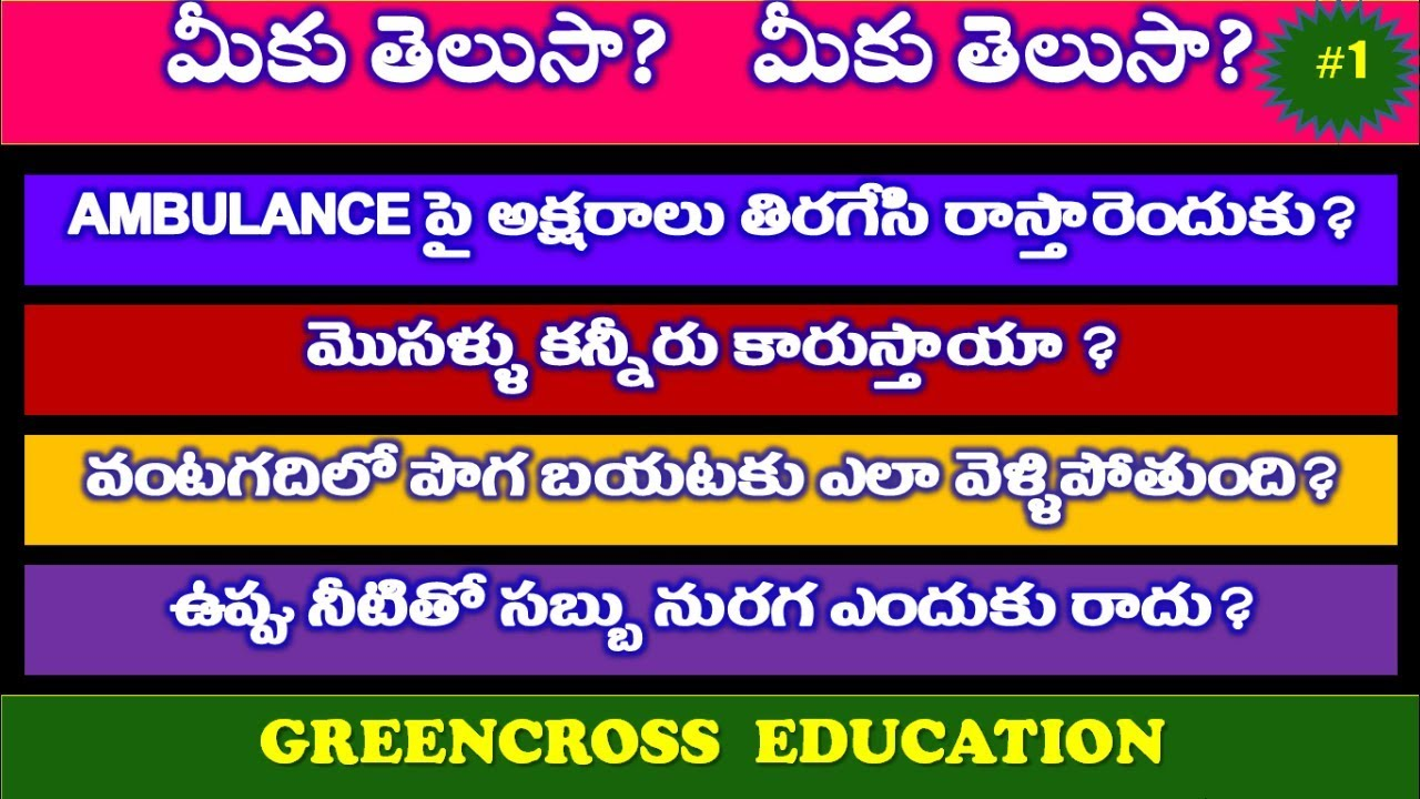 mind power videos|మీకు తెలుసా #1|telugu puzzles|riddles ...