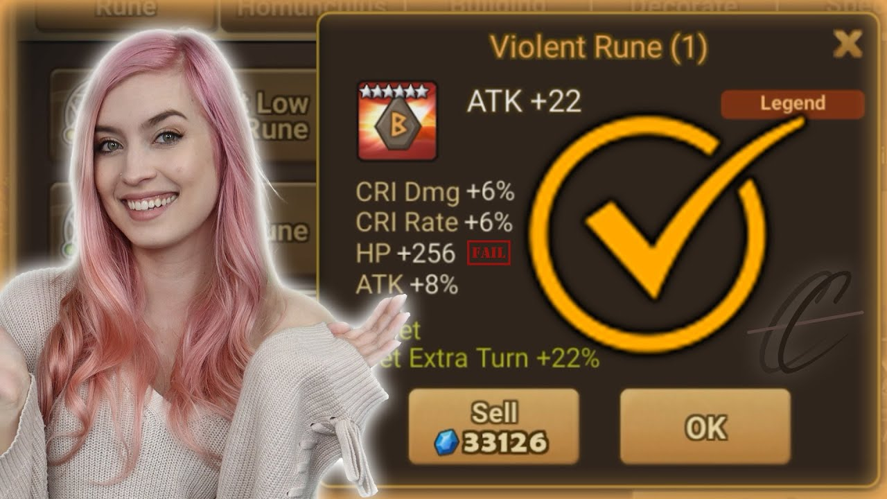 Summoners War | Instantly Selling All 5 Star Runes!
