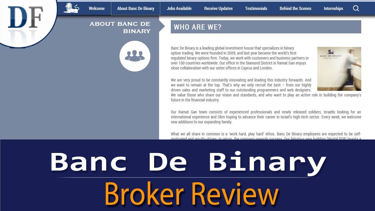 Banc De Binary Review 2019 By Dailyforexcom Youtube