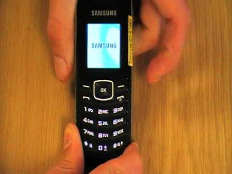 Samsung E1080 取扱い方法―電源を切る