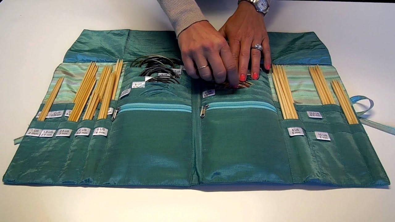 Della Q Dpn Circular Needle Case Style 1136 1 Video Youtube