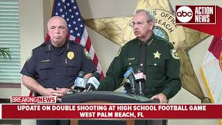 Presser: Two people shot during high school football game in West Palm Beach, Florida