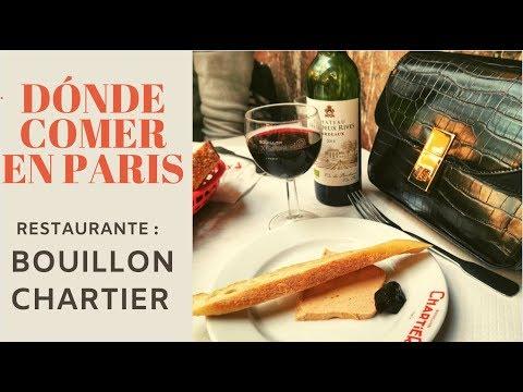 DÓNDE COMER EN PARÍS - RESTAURANTE BOUILLON CHARTIER