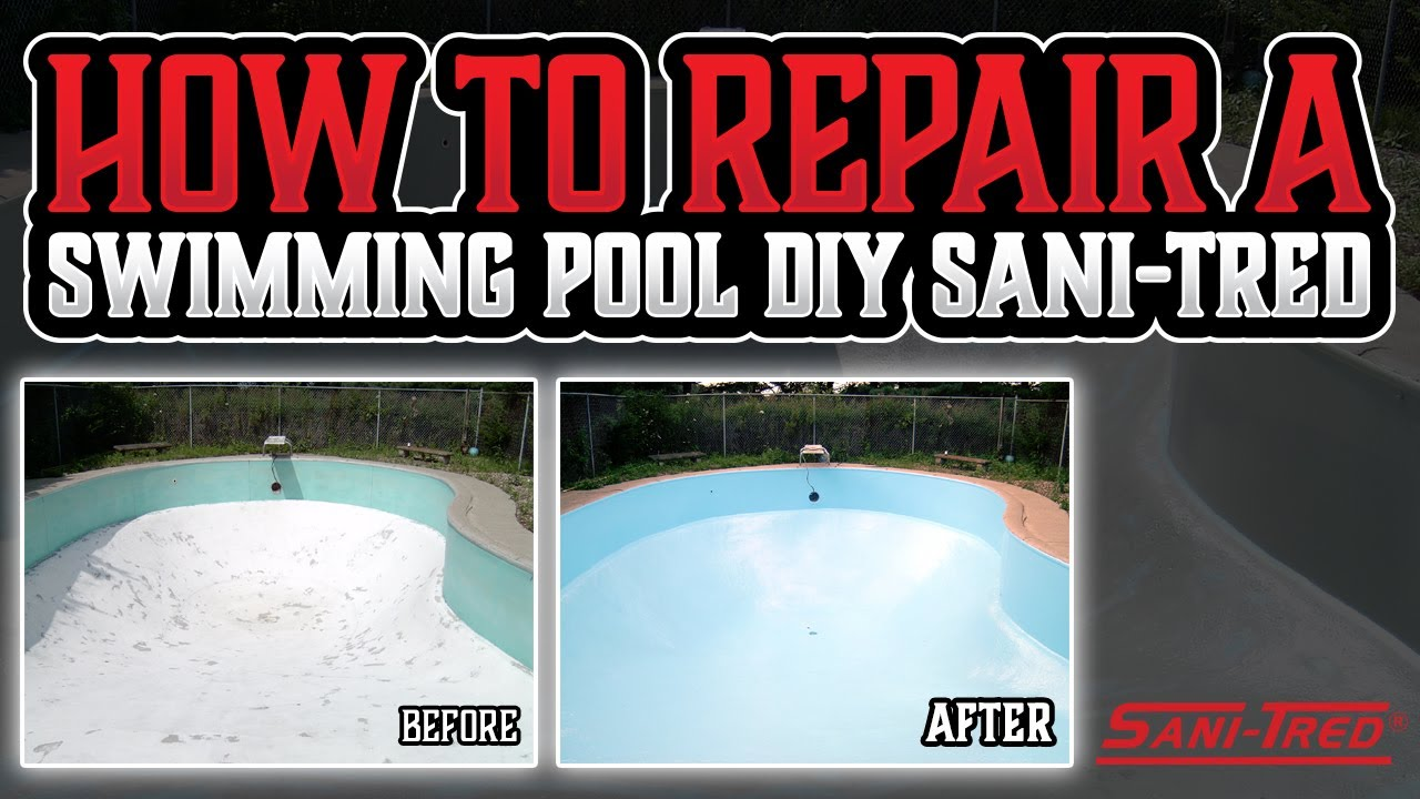 How to repair a swimming pool diy sani tred youtube how to repair a swimming pool diy sani tred solutioingenieria Image collections
