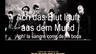 Rammstein - Roter Sand (Letras Alemán - Español)