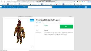 How To Get Free Anthro in ROBLOX 2018 [Knights of Redcliff: Paladin]