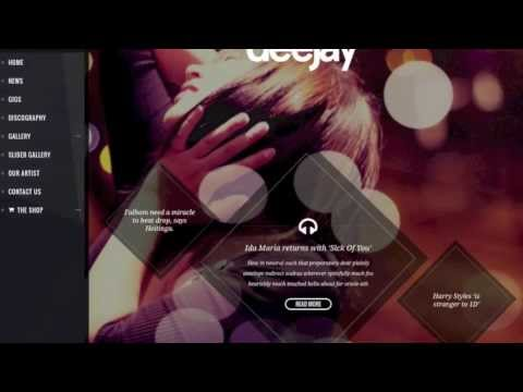 Deejay: WordPress Music Themes New Entry. Responsive Band Theme for Artists and Events