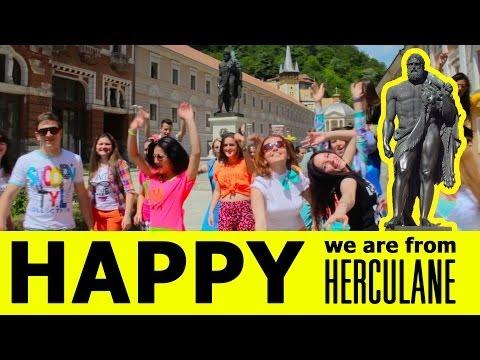 Pharrell Williams Happy - We are HAPPY in HERCULANE  [ROMANIA]