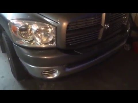 2007 dodge ram bumper paint youtube. Black Bedroom Furniture Sets. Home Design Ideas