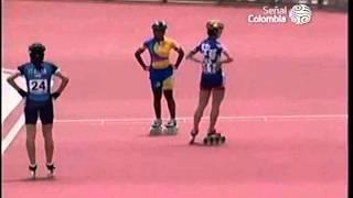 Final 500 mts Sprint Patinaje Mujeres World Games Cali 2013