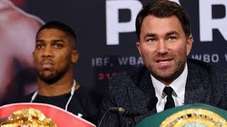 EDDIE HEARN RESPONDS TO DEONTAY WILDER AGREEING TO ANTHONY JOSHUA TERMS