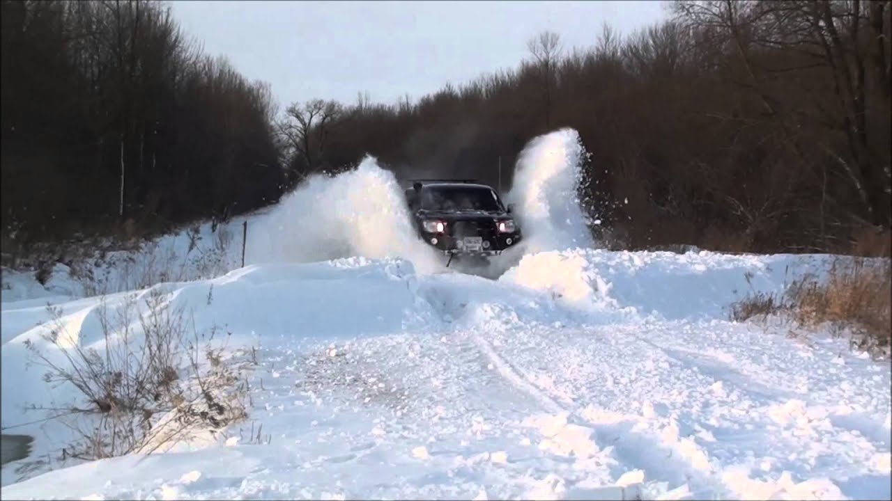 Toyota Tacoma Snow Drift Bashing Youtube