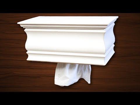 Make a Wall Mount Tissue Box Dispenser | Keenex Box Holder