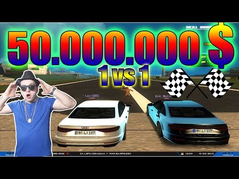 NAJBRZI OSVAJA  50.000.000$   RACE 1vs1   SA:MP