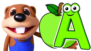 ABC Phonics Song + More   Learn the Alphabet, Nursery Rhymes & Kids Songs Busy Beavers