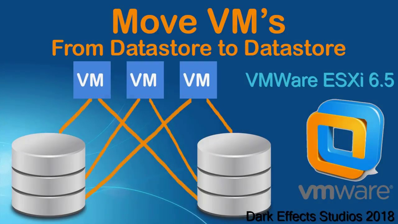 VMWare ESXi 6 5 move VM's to another Datastore