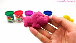 Playing with color plasticine Make animals from plasticine Video for children Songs for children