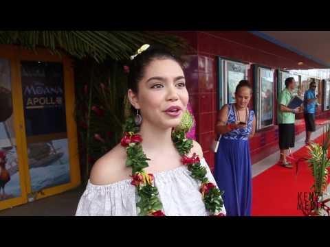 Disney's MOANA Cast in Samoa for Special Screening