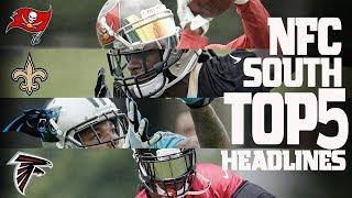 NFC South Top 5 Offseason Headlines Heading into the 2017 Season! | NFL NOW