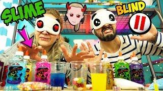 BLIND PAUSE SLIME CHALLENGE! Kaan & Nina nerven Kathi BRUTAL! EXTREME Schleim selber machen