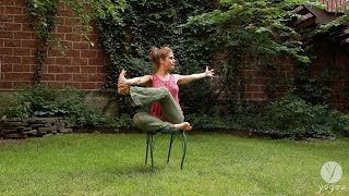 Yoga Chair Routine: Aligned & Steady