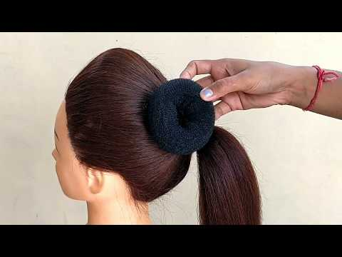 EASY PUFF WITH BUN HAIRSTYLE || HAIRSTYLES FOR PARTY & FUNCTION & WEDDING thumbnail