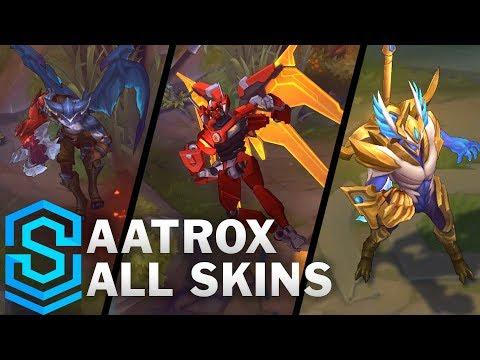Aatrox Rework | All Skins | Justicar, Mecha, Sea Hunter and Classic