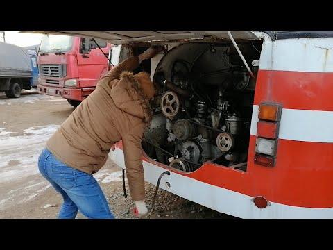 Заводим ЛАЗ-699 зимой кривым стартером