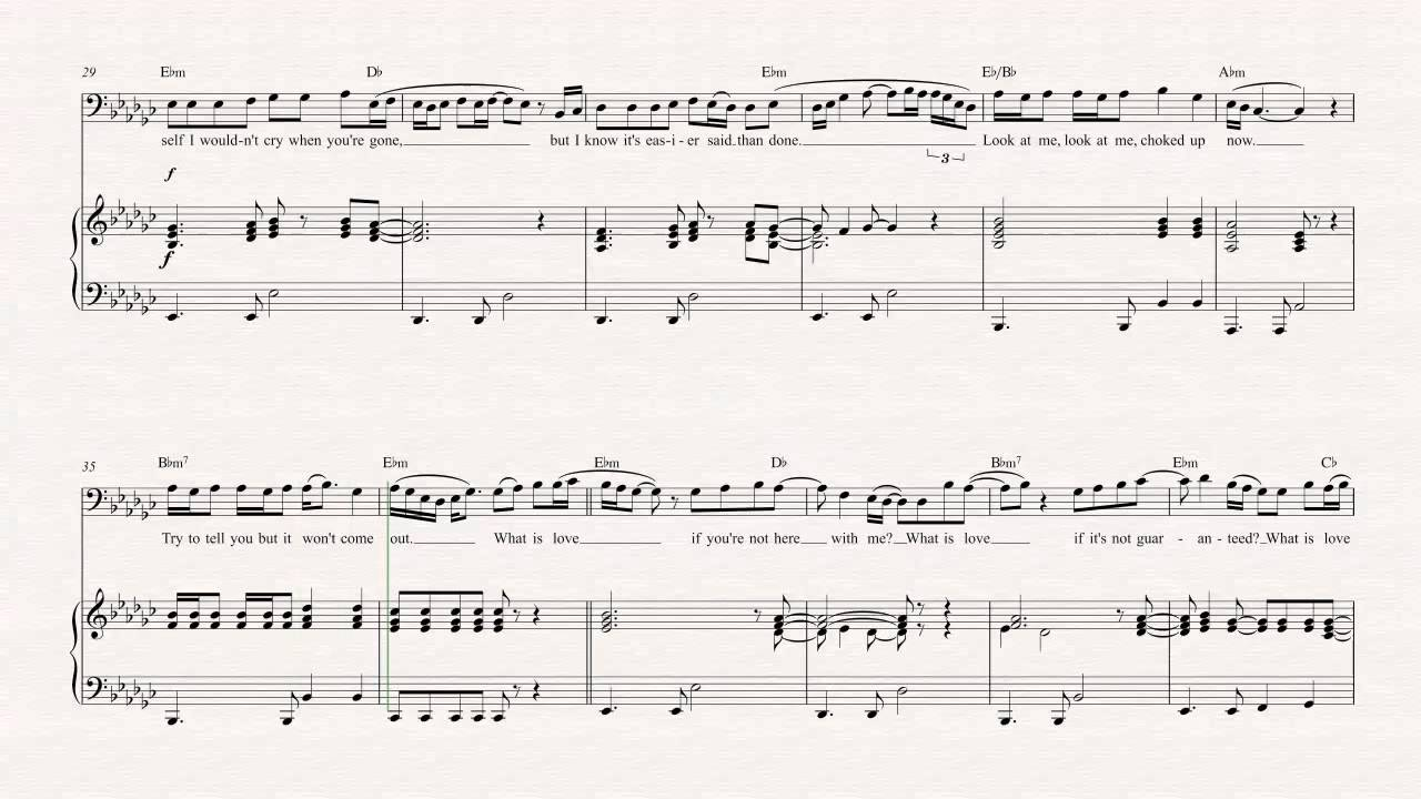 Bass what is love empire sheet music chords vocals youtube bass what is love empire sheet music chords vocals hexwebz Image collections