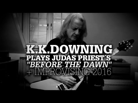 """K.K.Downing plays Priest´s """"Before The Dawn"""" solo & improvising"""
