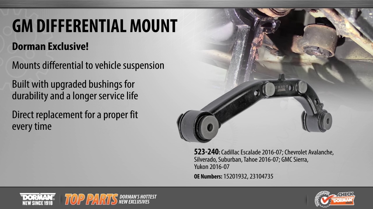 Highlighted Part: Differential Mount for Select Cadillac, Chevy & GMC Models