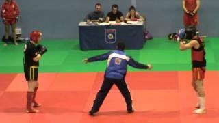 David Marchante (Derecha). Combate 2 (clasificación Campeonato de España SANDA)