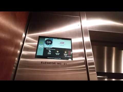 Prudential tower elevator to floor 52 !