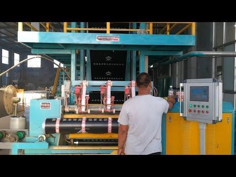 曝光高密度聚乙烯HDPE自粘胶膜防水卷材,科学高分子材料工厂生产全过程,流水线作业与手工作业生产管理